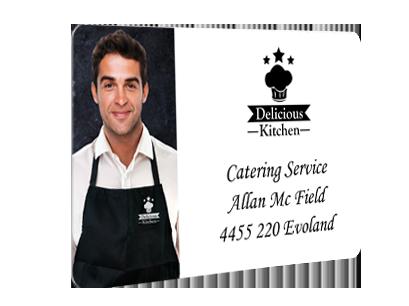 Sample badge for caterer